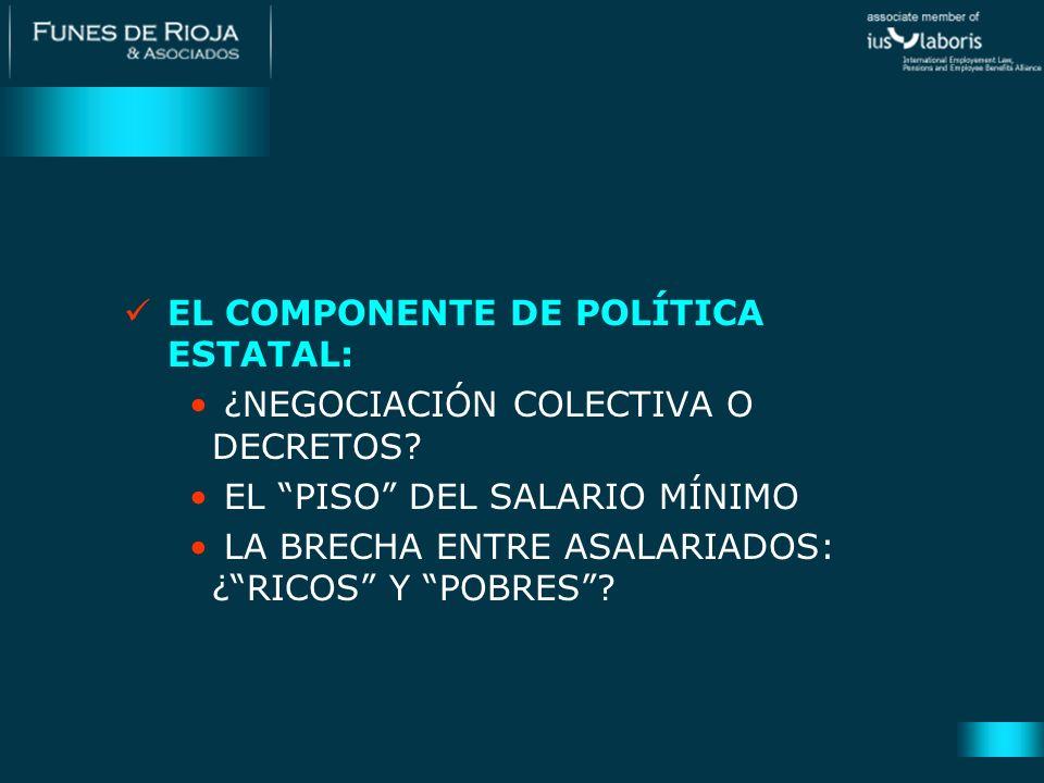 EL COMPONENTE DE POLÍTICA ESTATAL: