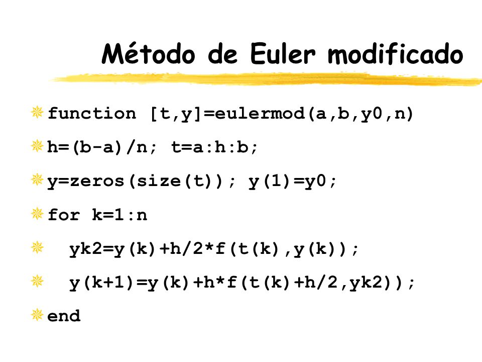 Método de Euler modificado