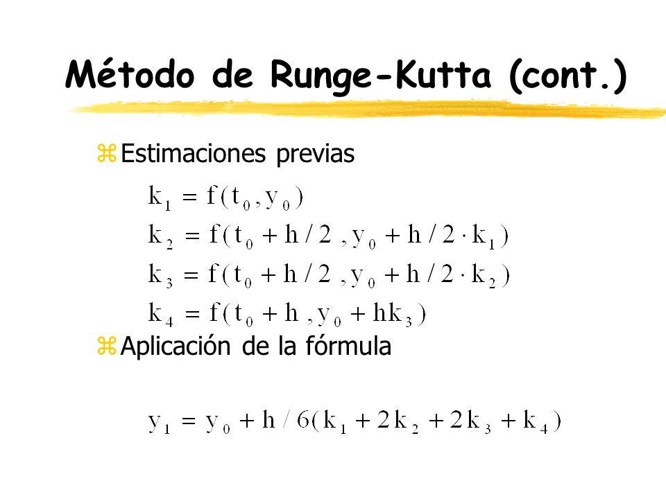 Método de Runge-Kutta (cont.)