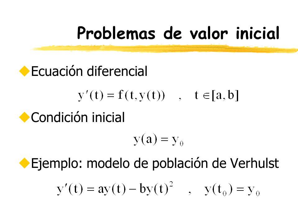 Problemas de valor inicial