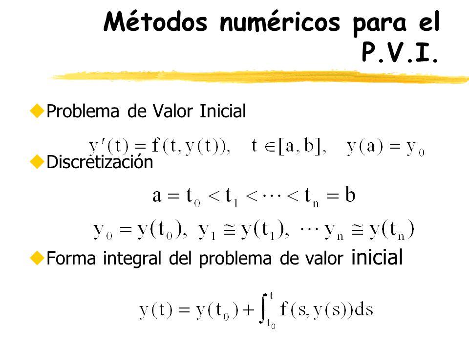 Métodos numéricos para el P.V.I.