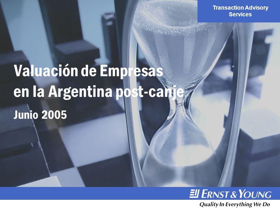 Valuación de Empresas en la Argentina post-canje