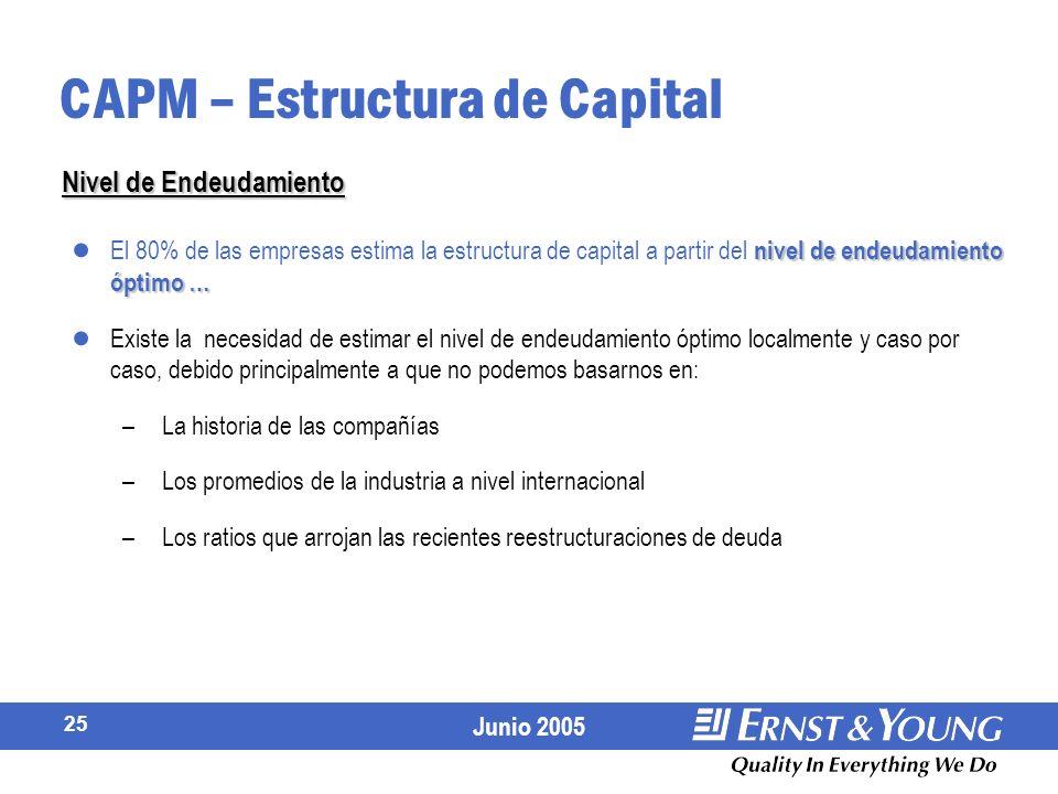 CAPM – Estructura de Capital