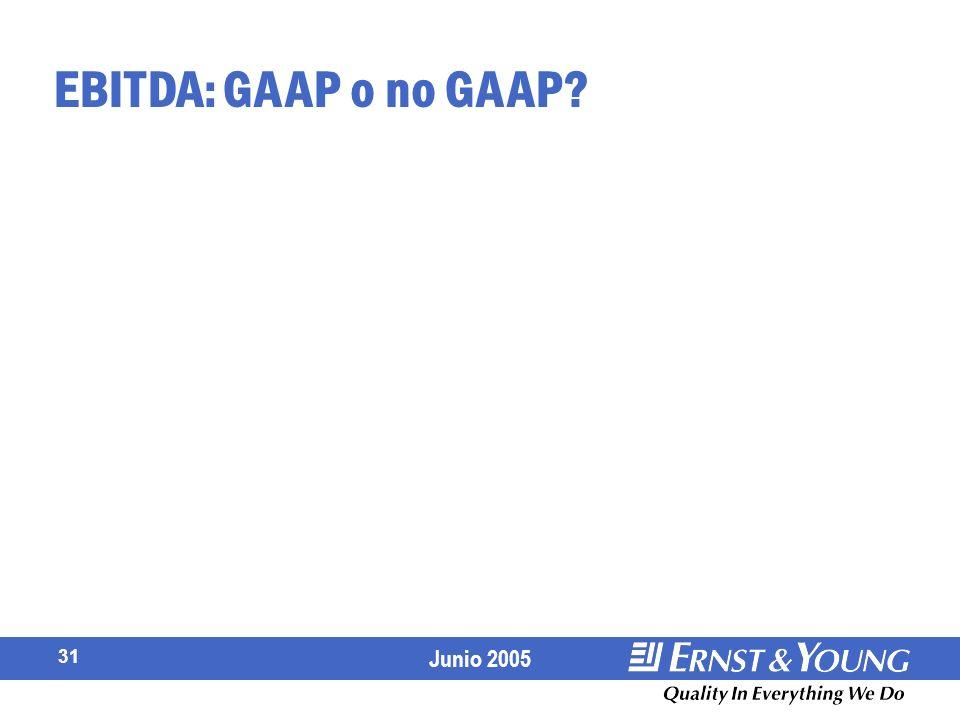 EBITDA: GAAP o no GAAP
