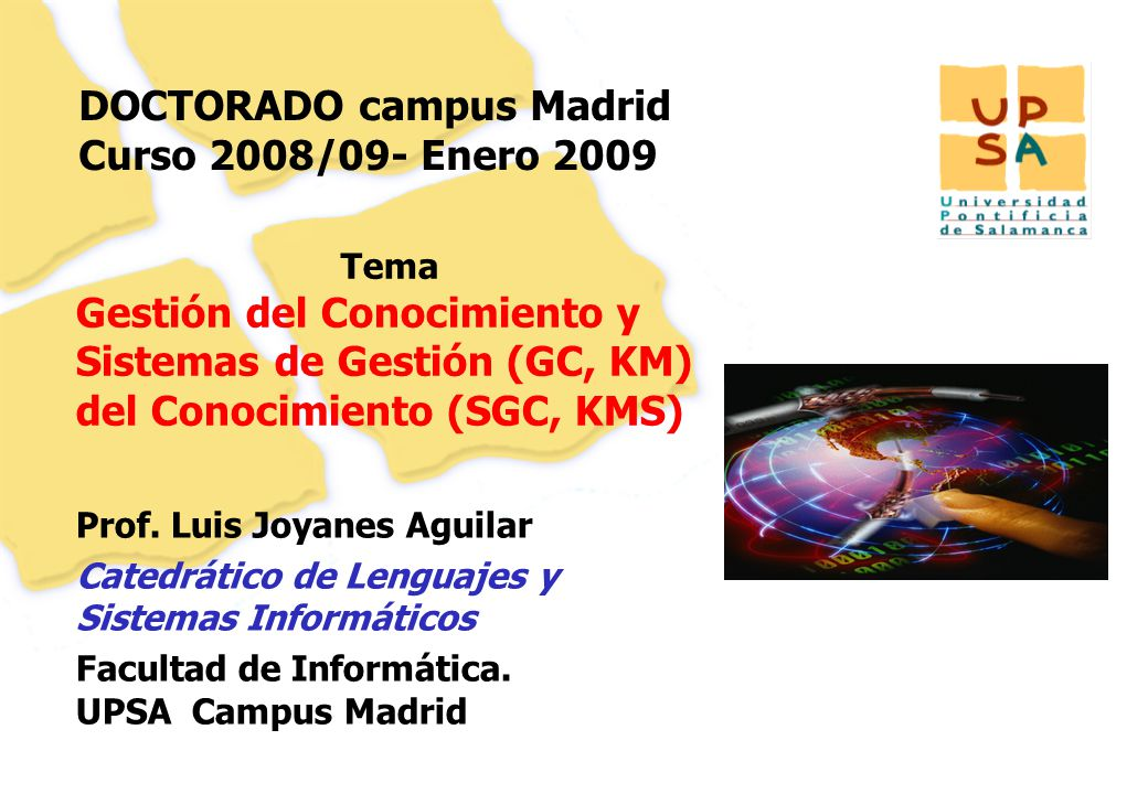 DOCTORADO campus Madrid Curso 2008/09- Enero 2009