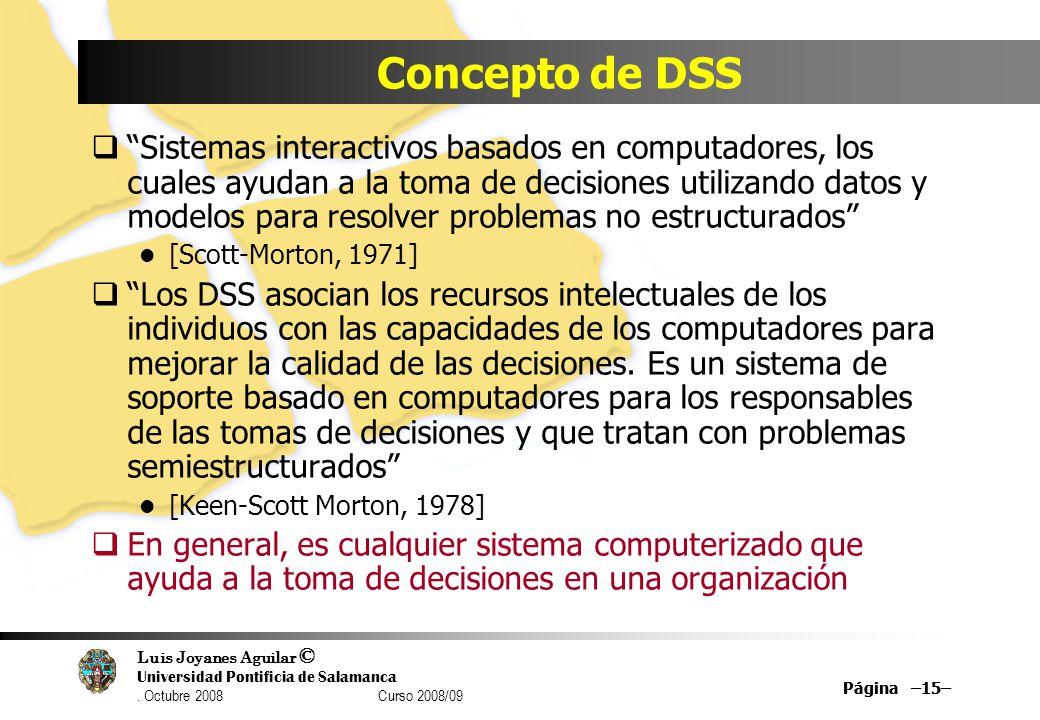 Concepto de DSS
