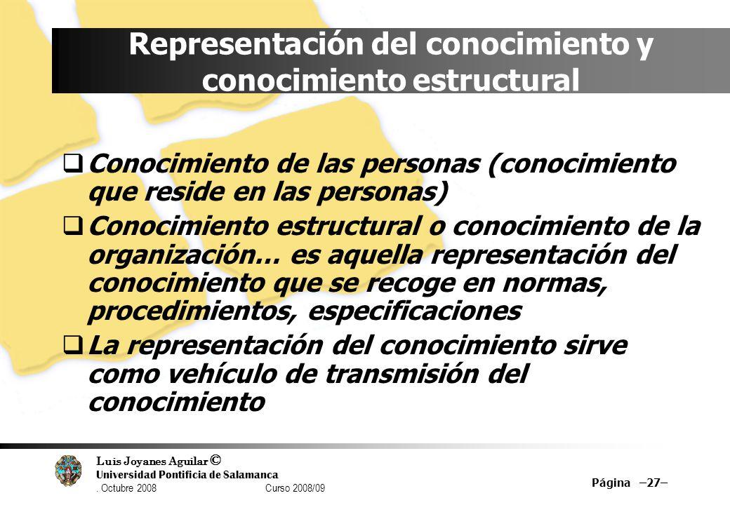 Representación del conocimiento y conocimiento estructural