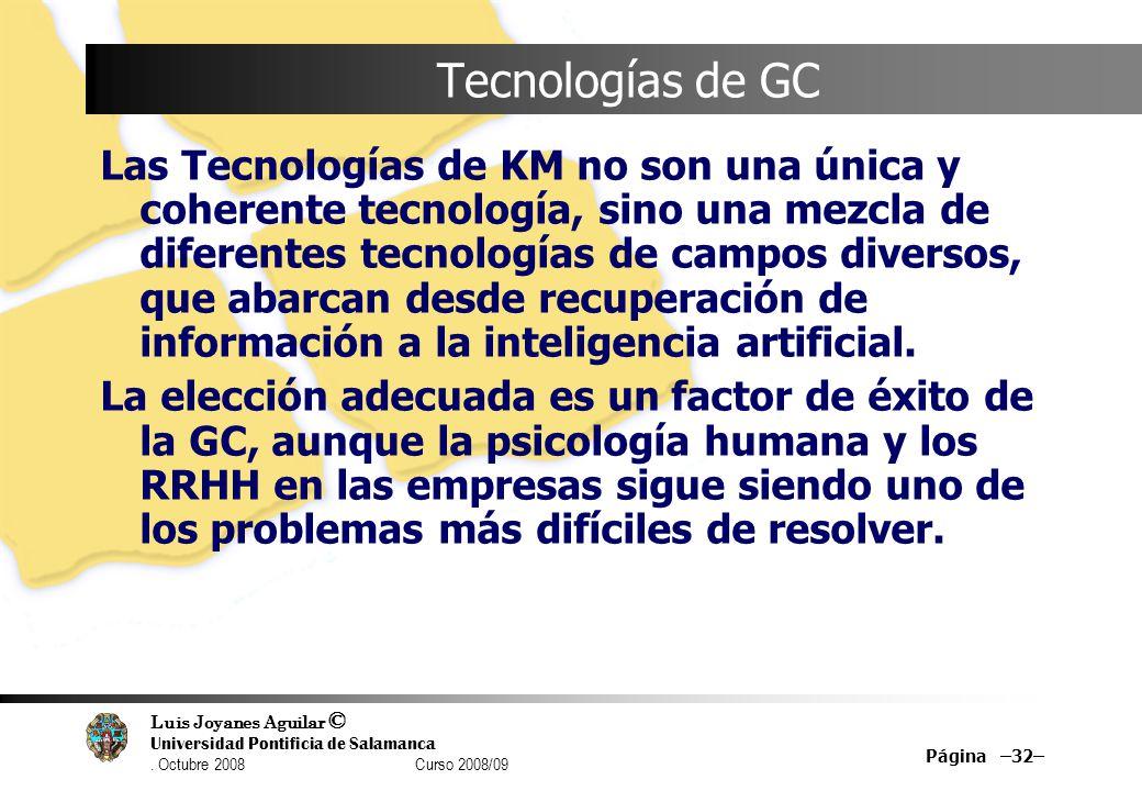 Tecnologías de GC