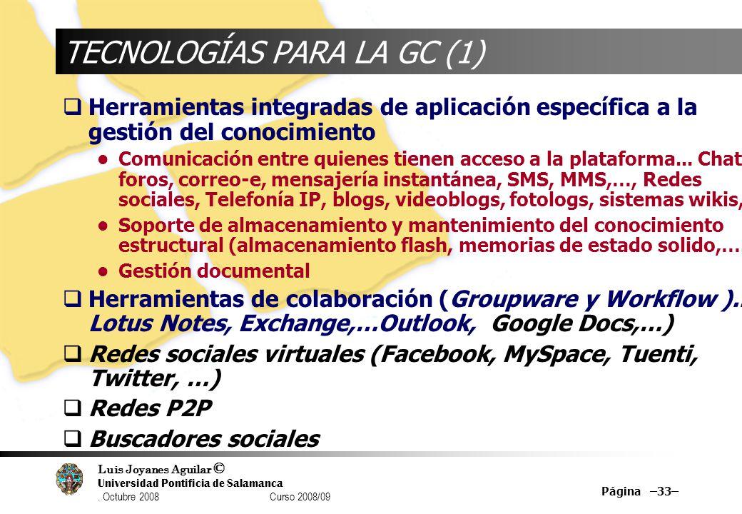 TECNOLOGÍAS PARA LA GC (1)