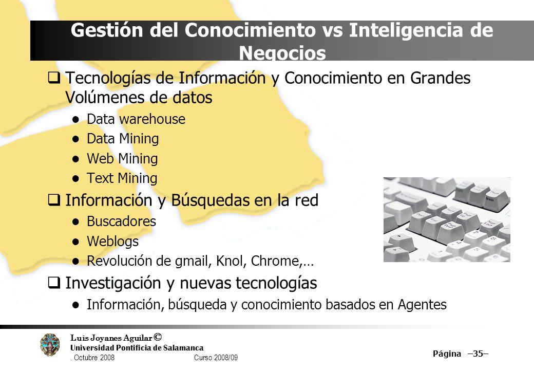 Gestión del Conocimiento vs Inteligencia de Negocios