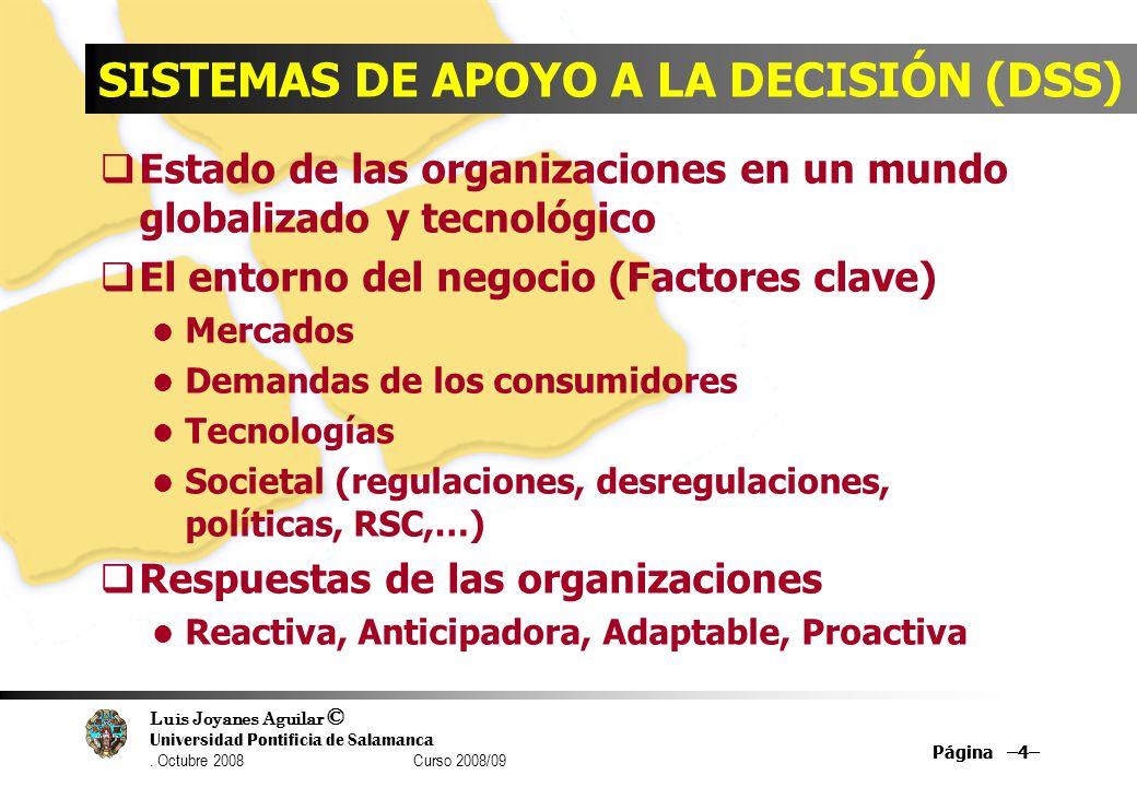 SISTEMAS DE APOYO A LA DECISIÓN (DSS)