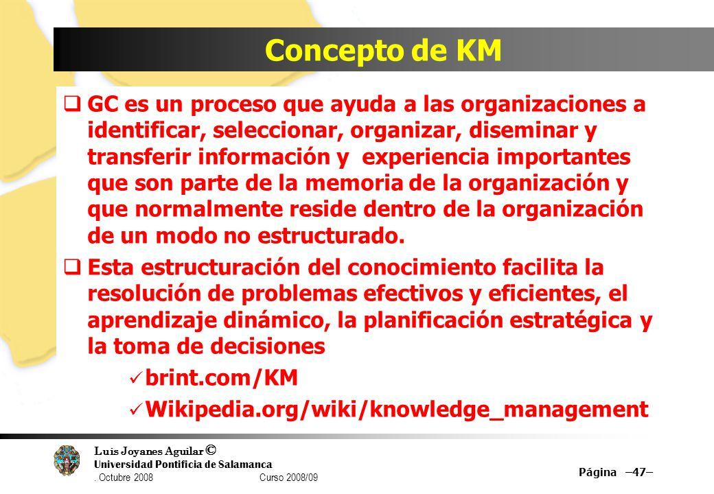 Concepto de KM