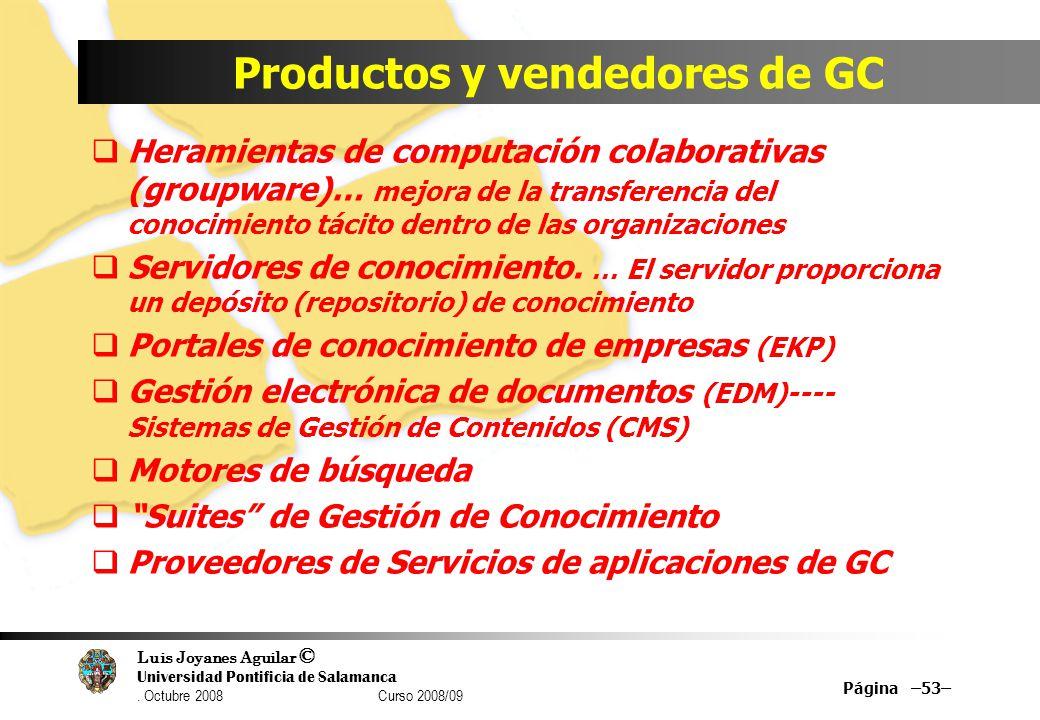 Productos y vendedores de GC