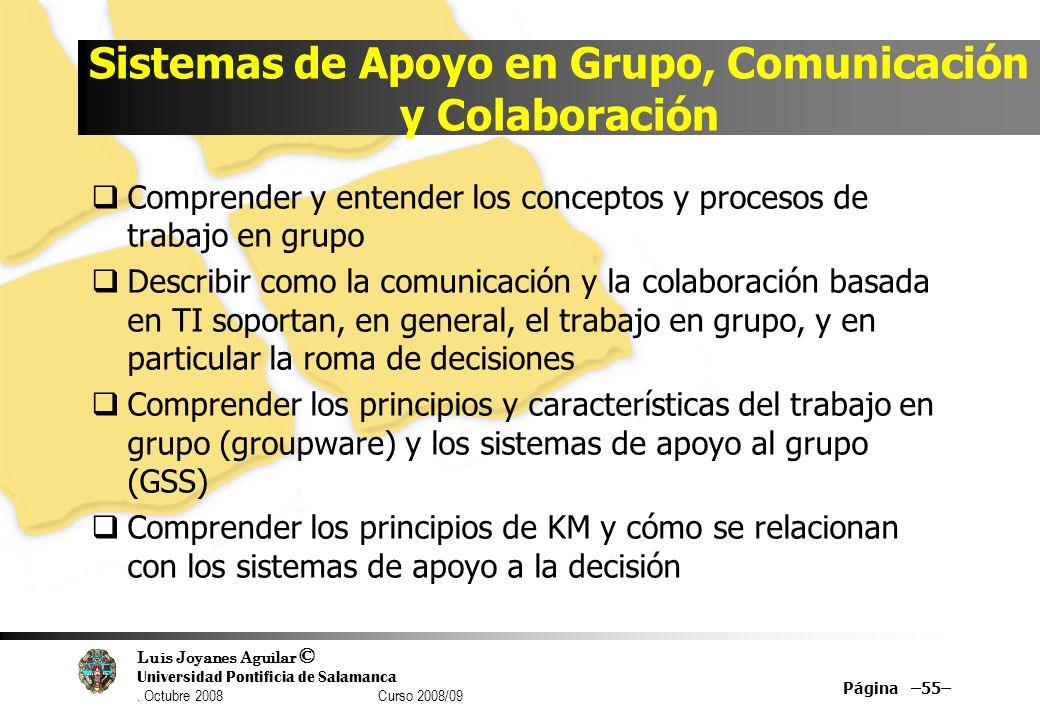 Sistemas de Apoyo en Grupo, Comunicación y Colaboración