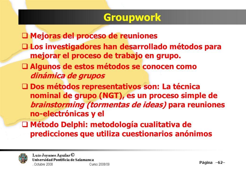 Groupwork Mejoras del proceso de reuniones