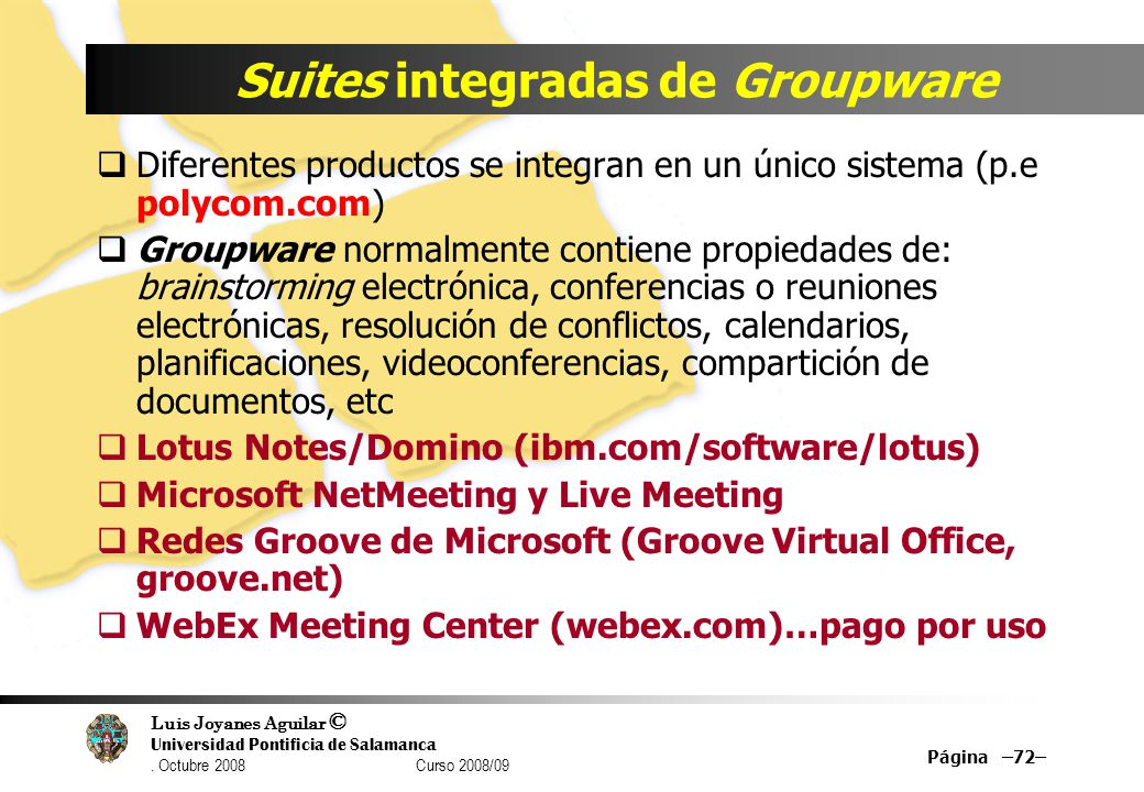 Suites integradas de Groupware