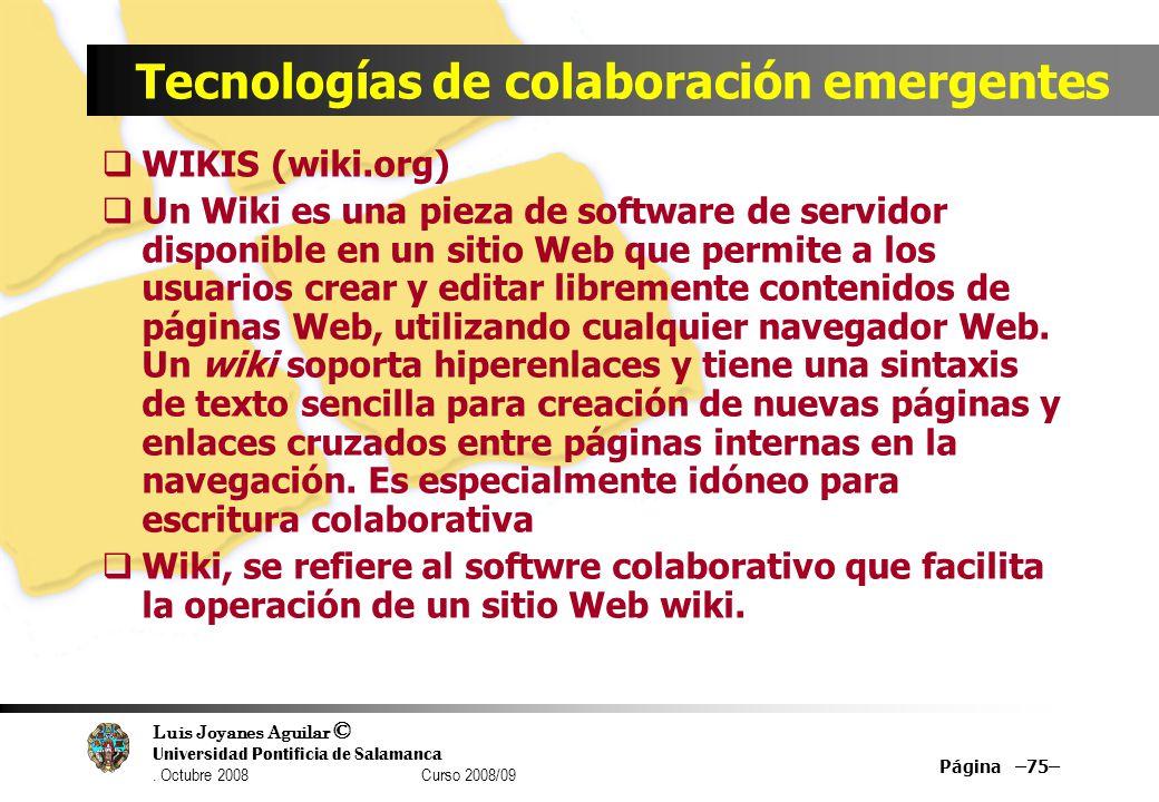 Tecnologías de colaboración emergentes
