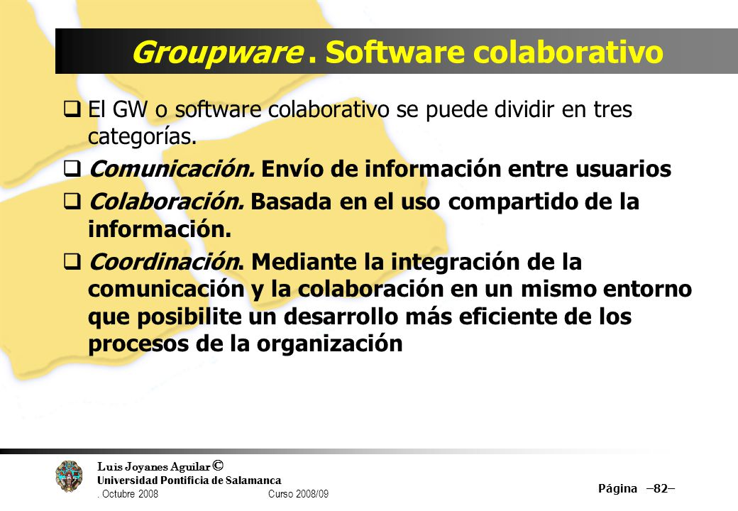 Groupware . Software colaborativo