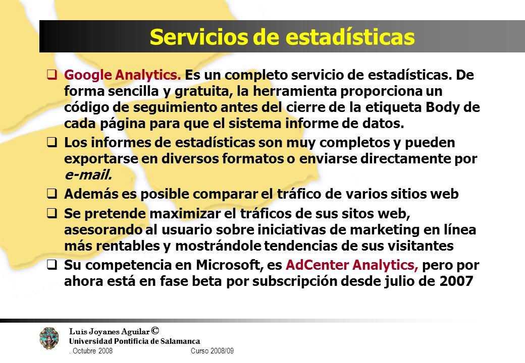 Servicios de estadísticas