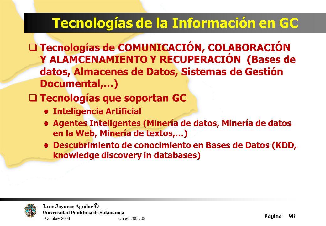 Tecnologías de la Información en GC