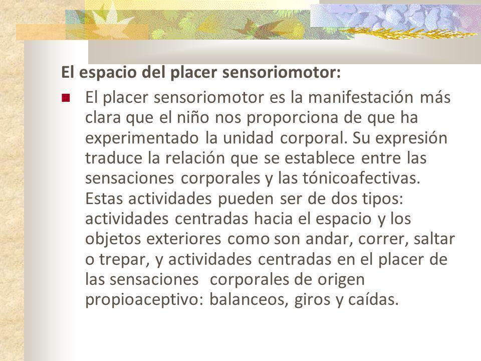 El espacio del placer sensoriomotor: