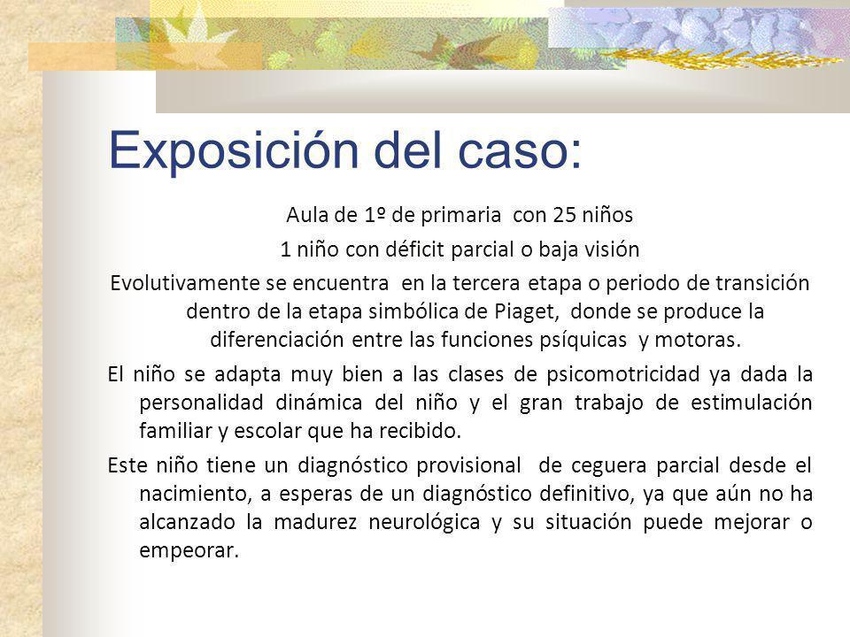 Exposición del caso: Aula de 1º de primaria con 25 niños