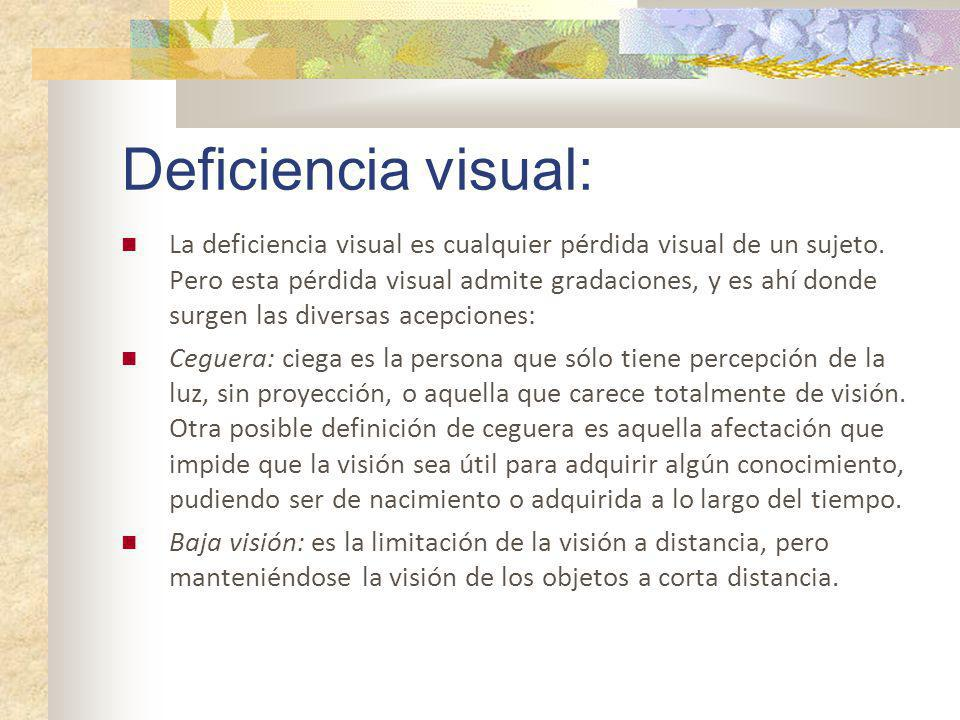 Deficiencia visual: