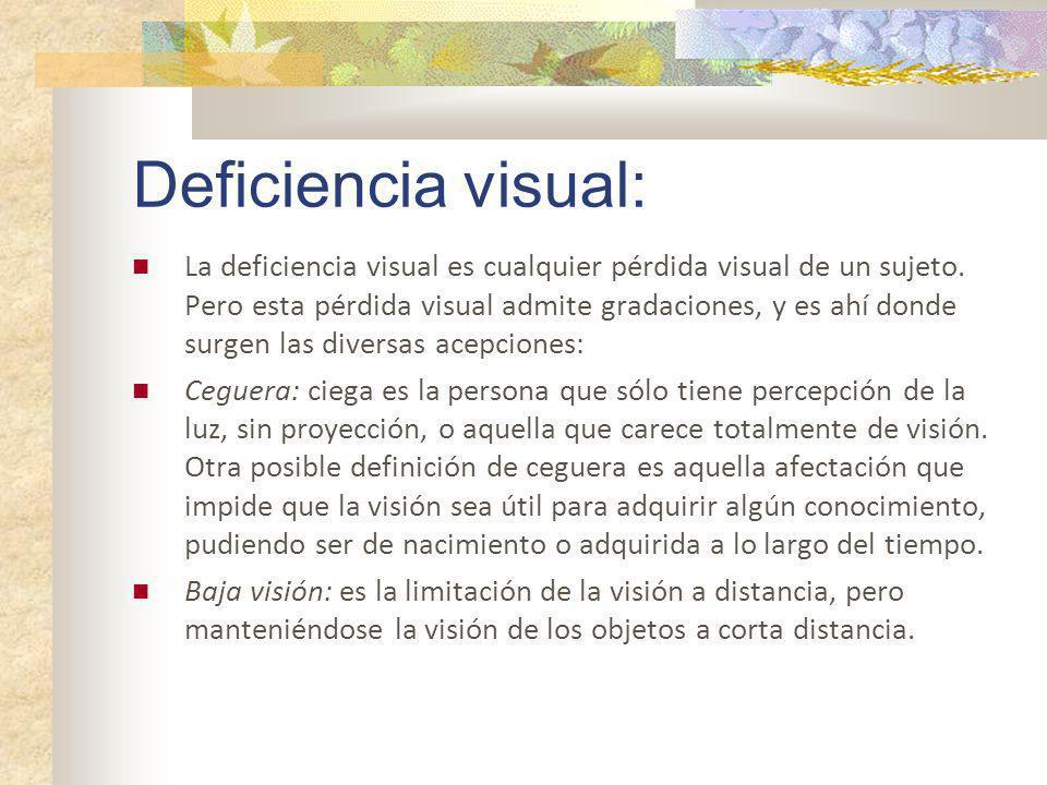 Deficiencia visual: