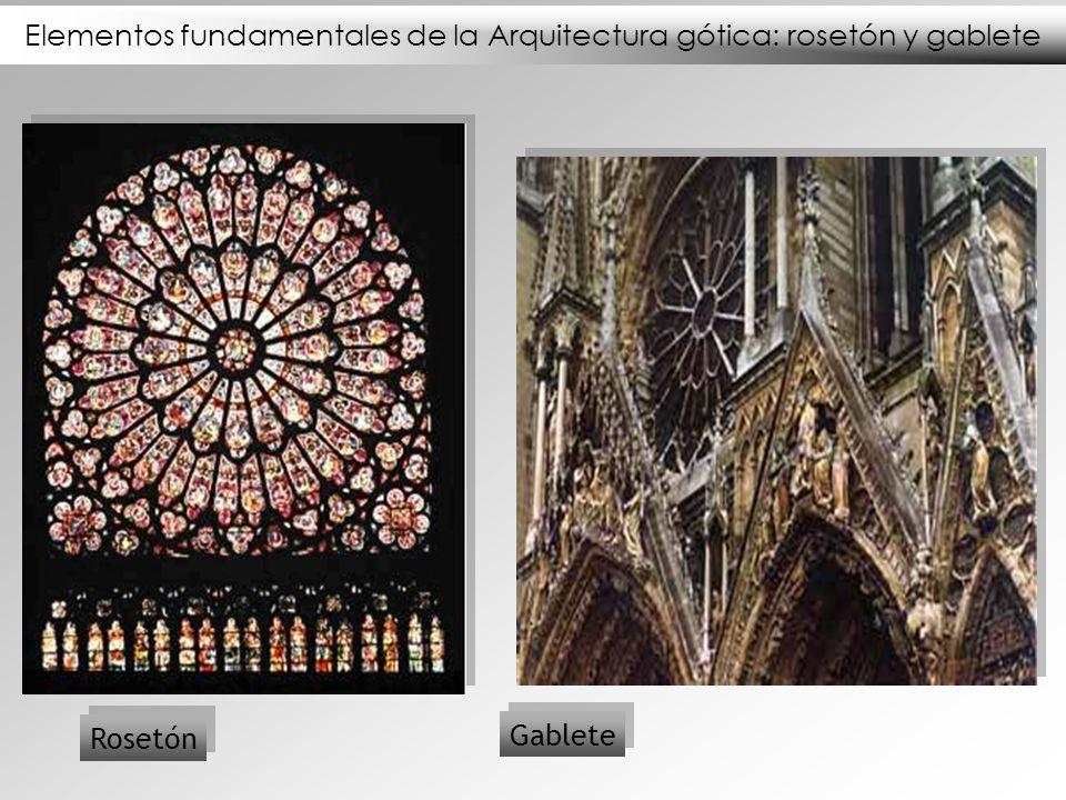 Elementos fundamentales de la Arquitectura gótica: rosetón y gablete