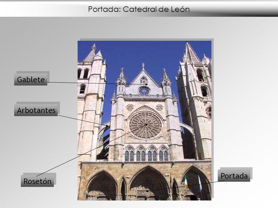 Portada: Catedral de León