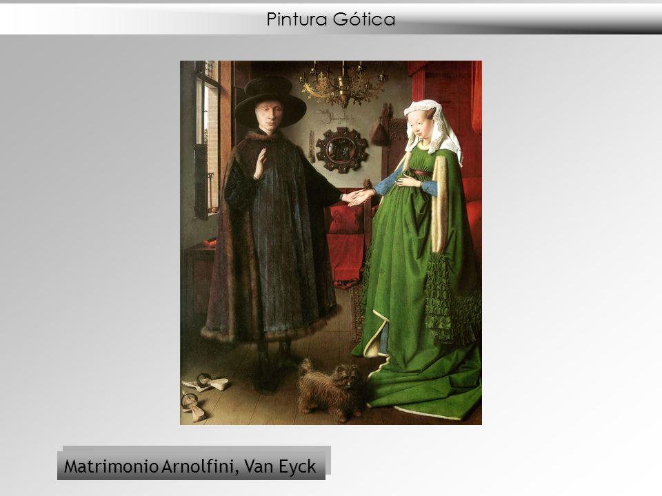 Pintura Gótica Matrimonio Arnolfini, Van Eyck