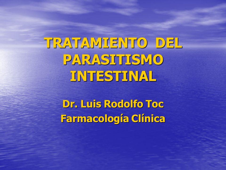 TRATAMIENTO DEL PARASITISMO INTESTINAL
