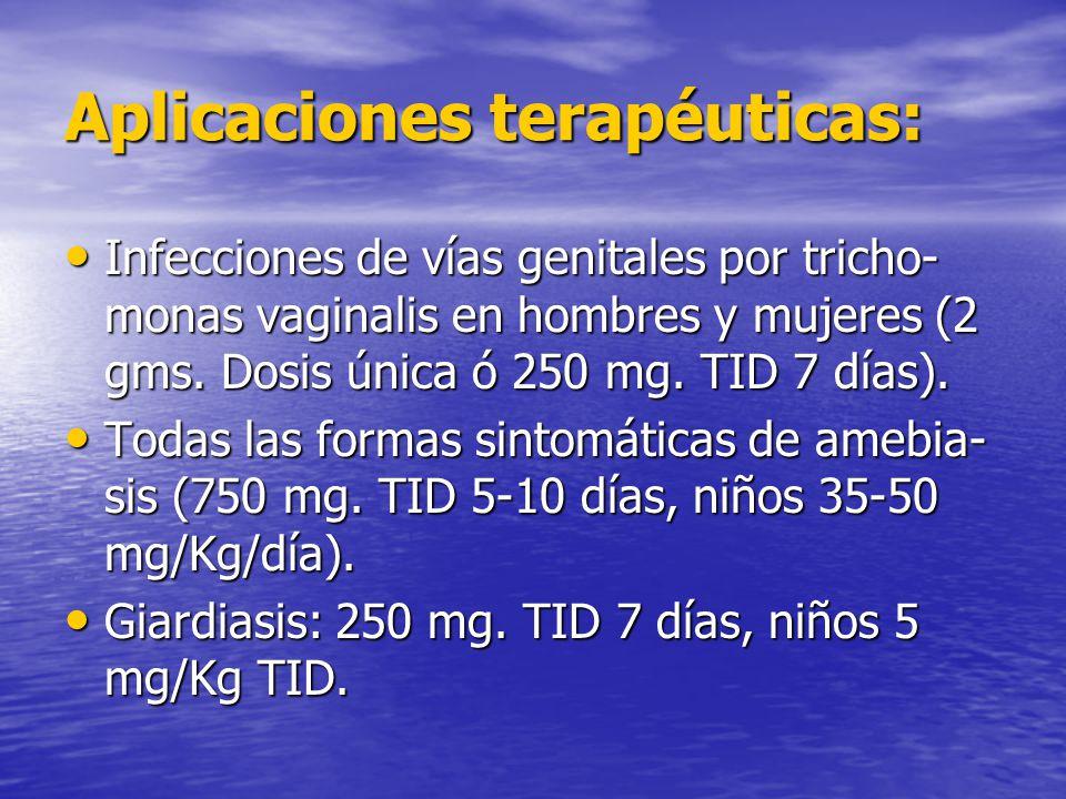 Aplicaciones terapéuticas: