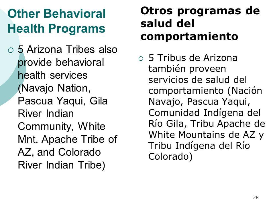 Other Behavioral Health Programs