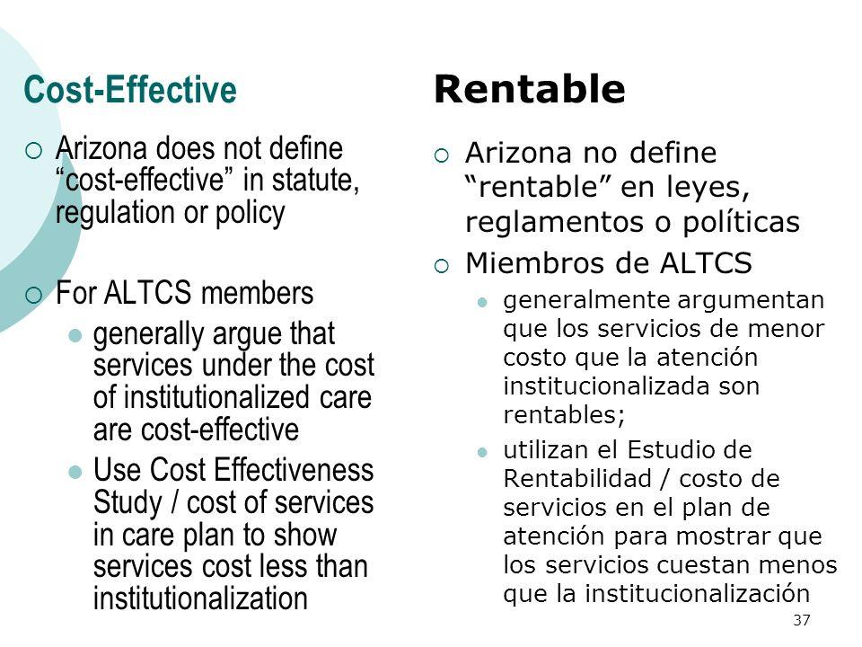 Cost-Effective Rentable