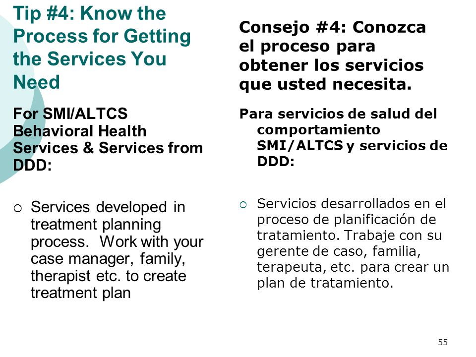 Tip #4: Know the Process for Getting the Services You Need
