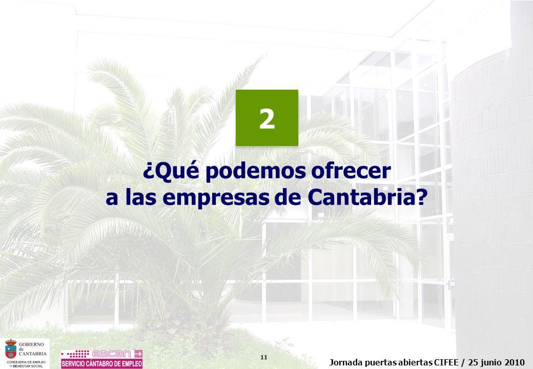 a las empresas de Cantabria