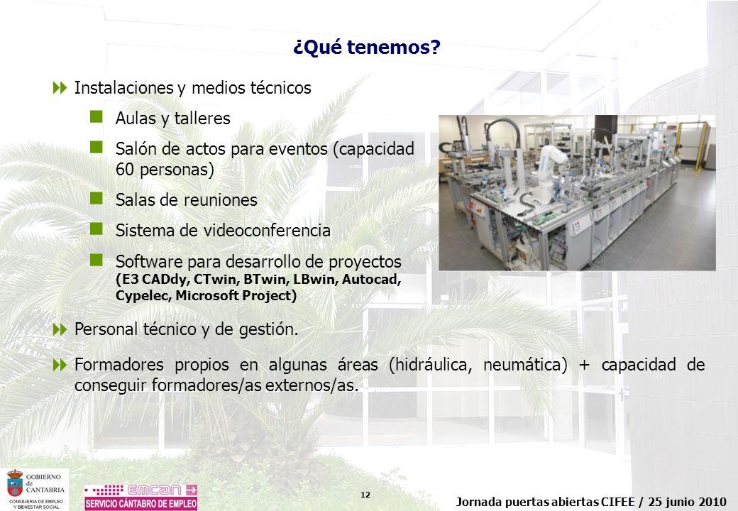 ¿Qué tenemos Instalaciones y medios técnicos Aulas y talleres