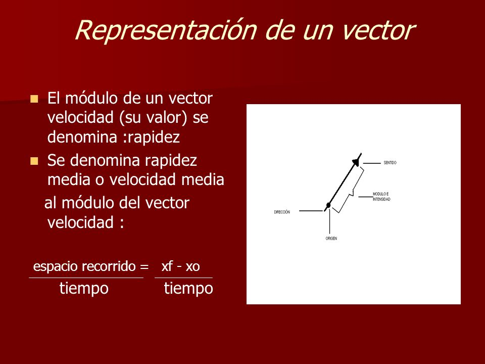 Representación de un vector