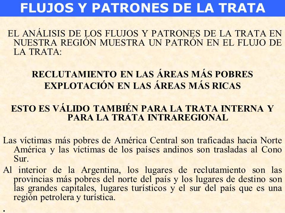 FLUJOS Y PATRONES DE LA TRATA