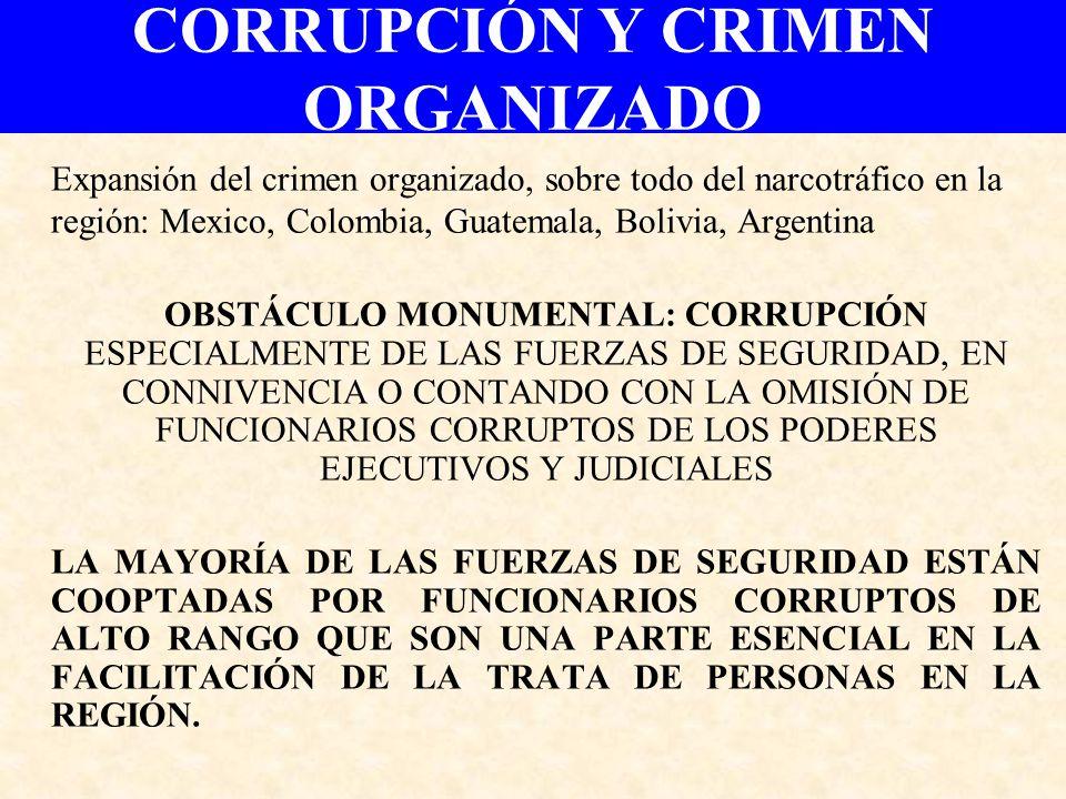 CORRUPCIÓN Y CRIMEN ORGANIZADO