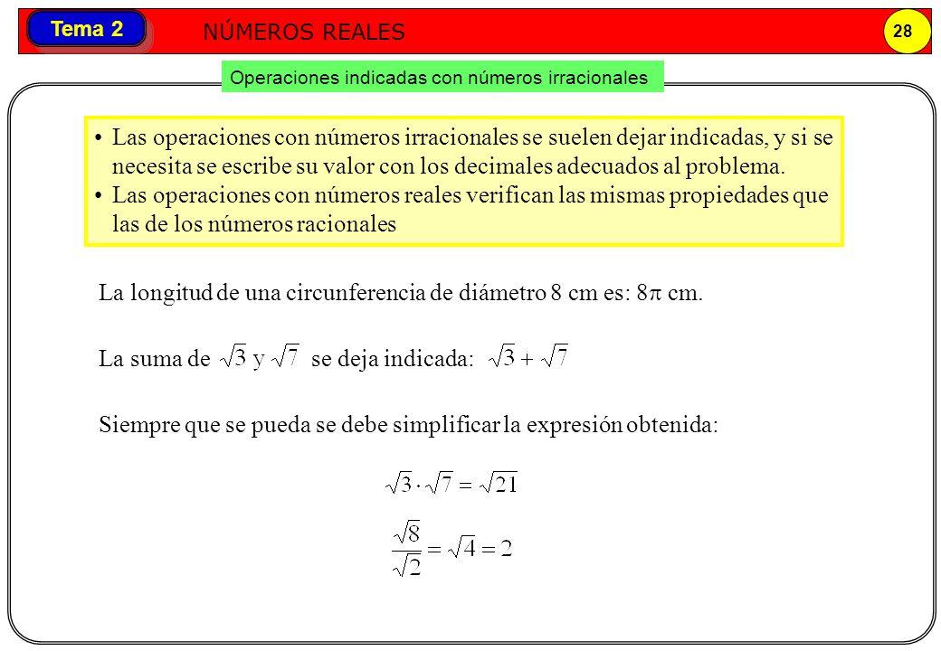 La longitud de una circunferencia de diámetro 8 cm es: 8p cm.