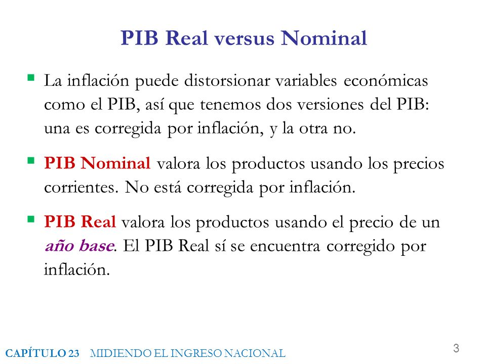 PIB Real versus Nominal