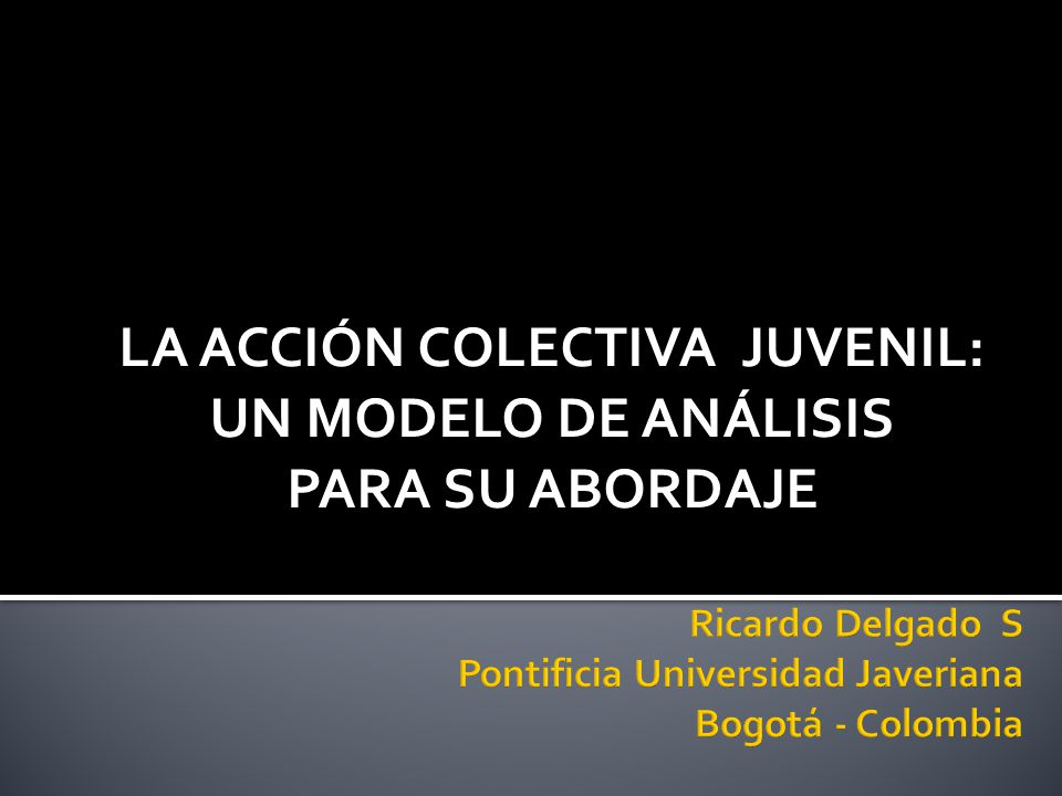 Ricardo Delgado S Pontificia Universidad Javeriana Bogotá - Colombia