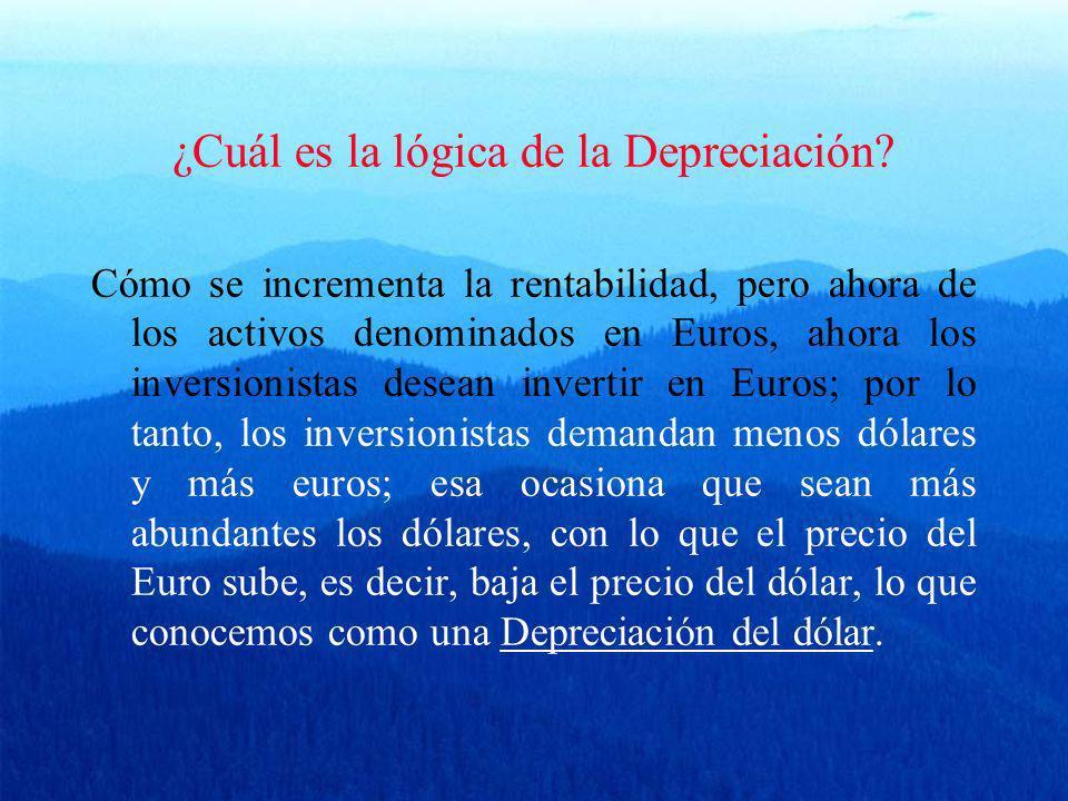 ¿Cuál es la lógica de la Depreciación