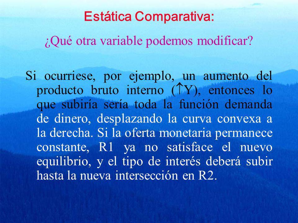 Estática Comparativa: