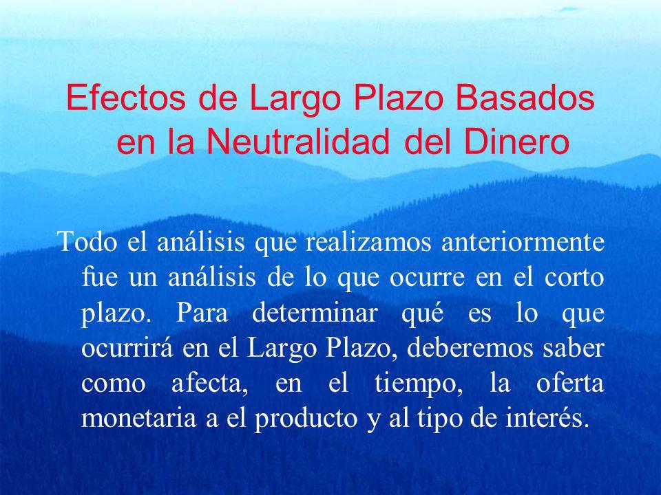 Efectos de Largo Plazo Basados en la Neutralidad del Dinero