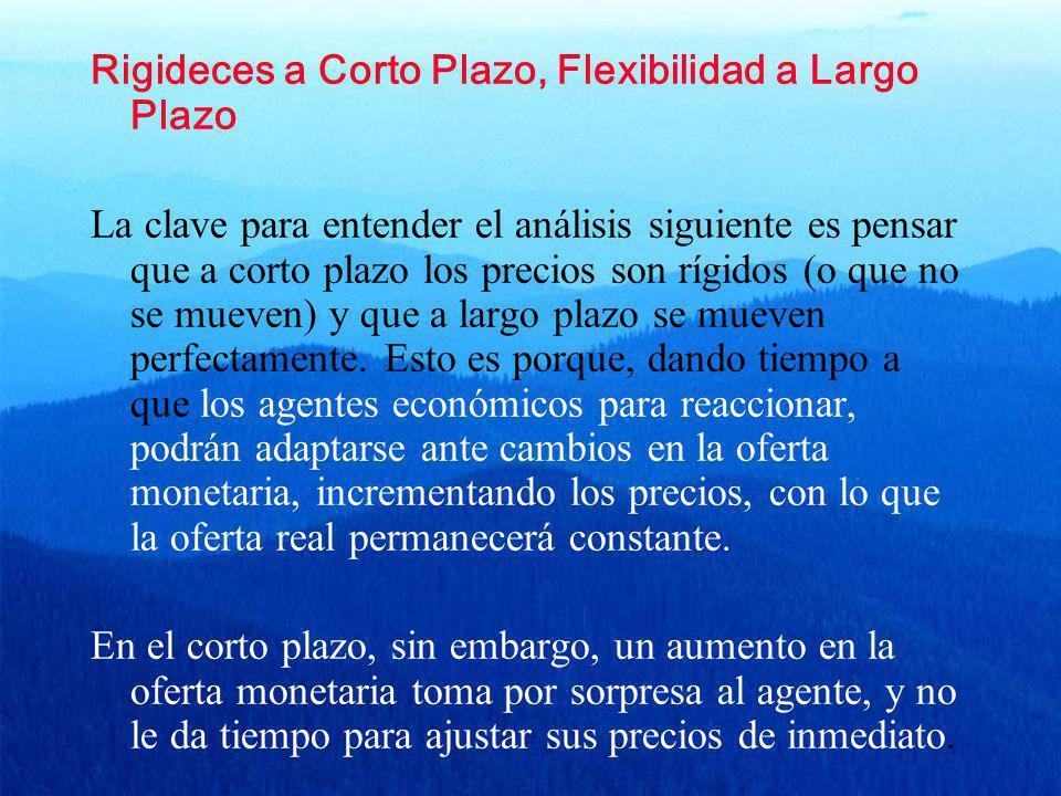 Rigideces a Corto Plazo, Flexibilidad a Largo Plazo
