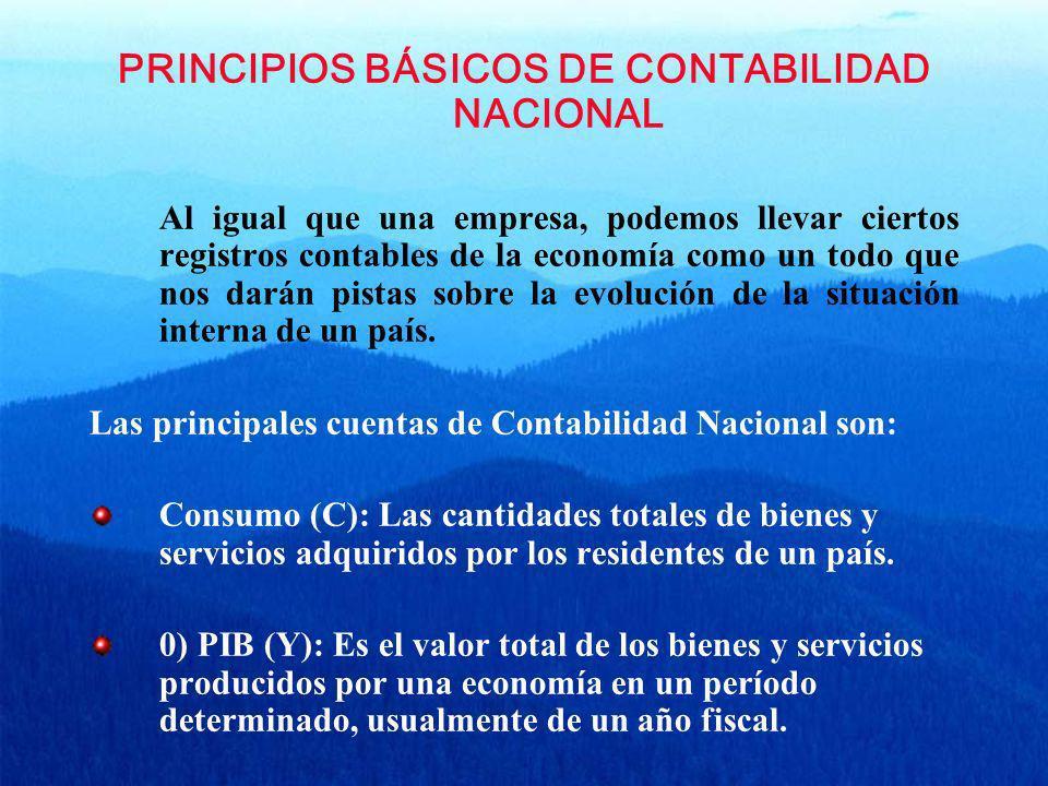 PRINCIPIOS BÁSICOS DE CONTABILIDAD NACIONAL