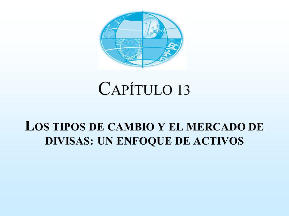 CAPÍTULO 13 LOS TIPOS DE CAMBIO Y EL MERCADO DE DIVISAS: UN ENFOQUE DE ACTIVOS